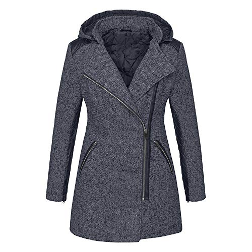 OIKAY Winter Outwear Hooded Zipper Mantel Damen Warm Slim Jacke Dicke Parka Mantel Jacke -