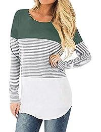 STRIR Camiseta De Mujeres Ropa para La Lactancia De Maternidad De Raya para Mujeres Las Mujeres Embarazadas Maternidad EnfermeríA Raya Lactancia Top Camiseta Blusa CóModo Y Elegante