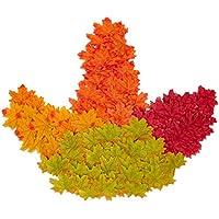 400 Stück Künstliche Ahornblätter Herbstlaub Kunst Farben Simulation Ahornblatt Perfekte Herbst Dekoration,Herbst Hochzeit Dekorationen-4 Farben