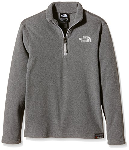 THE NORTH FACE GLACIER 1/4 ZIP  CHAQUETA DE FORRO POLAR INFANTIL  GRIS (TNF MEDIUM GREY HEATHER)  S (TALLA FABRICANTE S/YOUTH)
