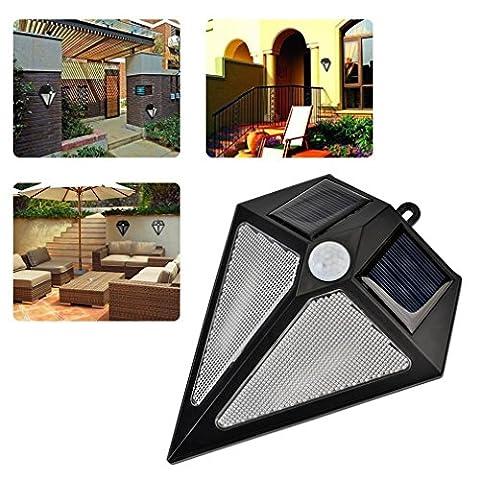 Lampe Solaire Jardin ICOCO LED Éclairage Exterieur Piquet Étanche Luminaire Exterieur Angle Réglable 48LED (Blanc Chaud)