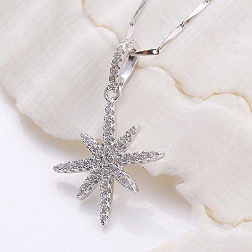Liudaye 925 Silber Anhänger Platin Halskette Dame Schlüsselbein Kette Lady Geschenk