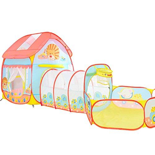 Enfants Tente Princesse Pliable Tipi Fille Jouet Maison Garçon Bébé Ocean Ball