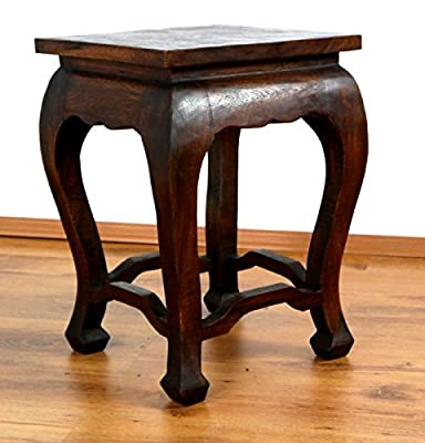 Asian Opium Table, Coffee Table, Handmade Thai furniture, Stool, Plant Stand, Side Table (Dark Brown)