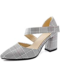 DIMAOL Zapatos de Mujer polipiel Primavera Otoño Comodidad Tacones Chunky Talón Señaló La convergencia Para Vestimenta...