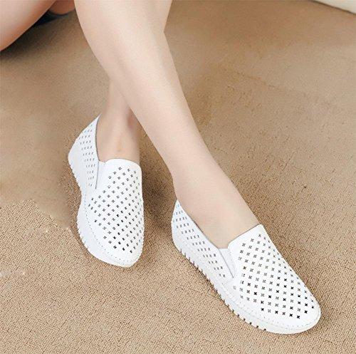 Flache Schuhe der Frauen faule breathable beiläufige Schuhe Aufzug Schuhe Frauen fallen Ms. White