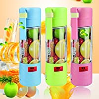 Portable USB Chargeable Electric Juicer Blender Smoothie Maker Ice Crusher Mini Automatic Juicer Blender
