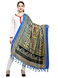 #5: Varayu Women's Art Silk Floral Printed Dupatta