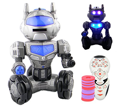 RC-Robot--Kids-Toy-Robot-with-Sound-and-Lights--Programmable--Super-Fast-Dancing-Shooting-Remote-Control-Robot--Omni-Directional-Movement-Shoots-Frisbees-Slides-Dances--PL9032