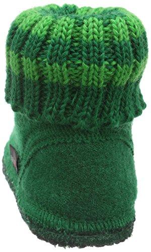 Haflinger Paul, Chaussons mixte enfant Vert - Grün (Smaragd 37)