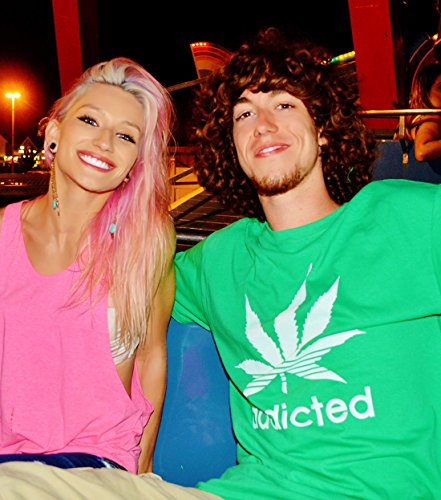 ADDICTED Hanf T-Shirt Olivgrün