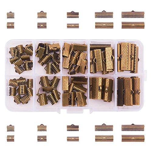 pandahall Elite 100 Stücke Antike Bronze Einsen Metall Karabiner Verschluss Kettenverschluss