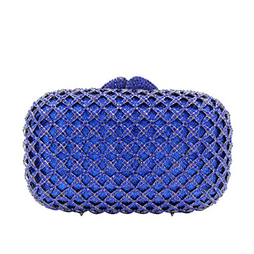 Diamant End Blue Abendtasche Diamant Damen Kupplung Luxus High 4f6Z7