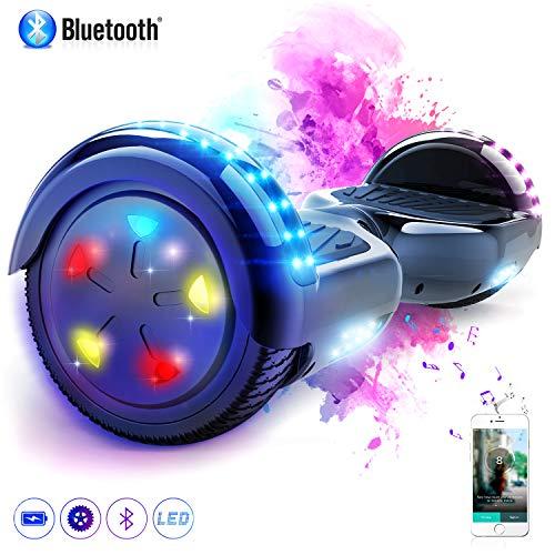 MARKBOARD Hoverboard 6.5 inch con Bluetooth Scooter Elettrico Auto bilanciamento Monopattino Elettrico (Nero)