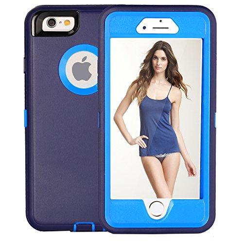 iPhone 6S Plus Fall & # xff1a; fogeek Premium Qualität 4Schicht integrierter Displayschutzfolie, staubdicht und stoßfest mit Gürtelclip Holster und ausklappbarem Ständer für iPhone 6Plus/iPhone 6S  dunkelblau