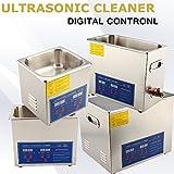 Pulitore industriale ad ultrasonico pulizia in acciaio inox con timer digitale display dispositivo professional riscaldatore riscaldato riscaldamento (6L)