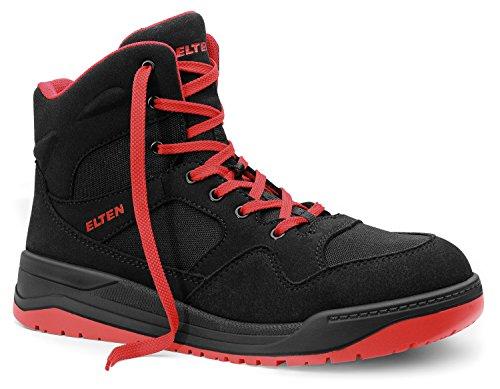 OTTAWA Damen Sicherheit Stahlkappe Leichte Schnürschuh Arbeit Schuh Trainer,Black Leather,39 EU/5 UK