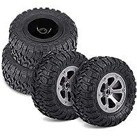 4Pcs RC Crawler Neumáticos Off-Road Coche Neumáticos de Goma de Control Remoto Militar Neumáticos