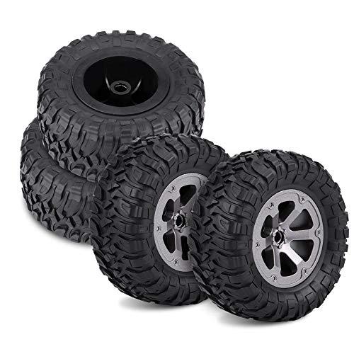 4Pcs RC Crawler Tires Off-Road Car Tires Rubber Remote Control Military Car Tires for 1: 16 RC Car Accessory Part