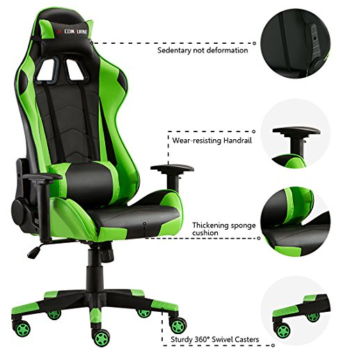 JL Comfurni Gaming Chair Chesterfield Ergonomic Swivel Office Chair High Back Heavy Duty Home Office Computer Desk Chair PU Leather Recliner Sport Racing ...  sc 1 st  PCPartPicker & JL Comfurni Gaming Chair Chesterfield Ergonomic Swivel Office Chair ...