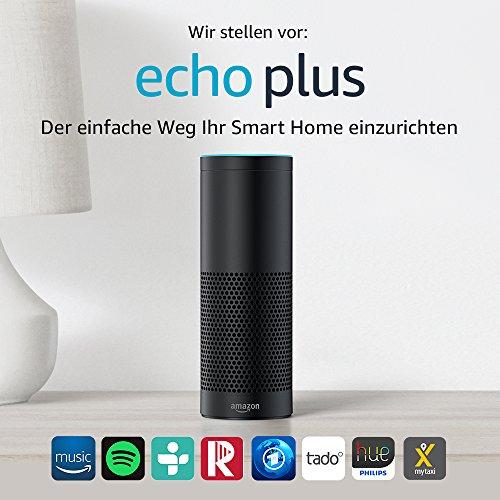 Wir stellen vor: Echo Plus - Mit integriertem Smart Home-Hub (schwarz) - 2