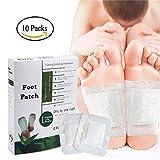 Detox Foot Patches Pads, 100% Natural Organic Detox Foot Pads per sollievo dal dolore, sollievo dallo stress, sonno profondo, perdita di peso (10Pack)