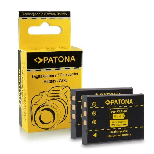 Premium Qualität - 2x Akku wie Fuji NP-60 / Casio NP-30 / HP L1812A / R07 / A1812A / Kodak Klic-5000 mit Infochip · 100% kompatibel mit Fujifilm FinePix 50i | 601 | 401 | 410 | F401 | F401 Zoom | F410 | F601 | F601 Zoom | F700 | M603 | HP Photosmart R07 | R507 | R607 | R607 Gwen | R607xi | R707 | R707v | R707xi | R717 | R725 | R727 | R817 | R817v | R818 und weitere…