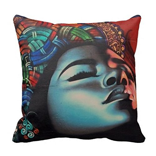 Reasonwe Custom Graffiti Art Throw Square Pillow Case 18x18 Inches for put in Car Seat, Patio, Bedroom, Couch, Sofa