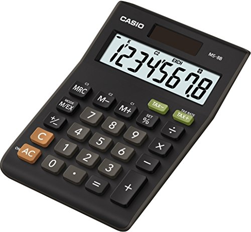 Casio MS-8B-S-EC 8-Digit Tax/Cur...