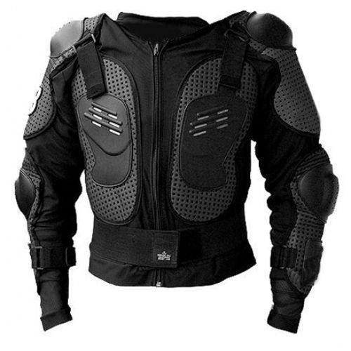 Protektorenjacke XL Brustpanzer Rückenprotektor (Größe XL) Schutzausrüstung für Fahrrad Bike Quad Motocross Motorrad Motorsport - Protektor Protektoren Jacke Motorradjacke