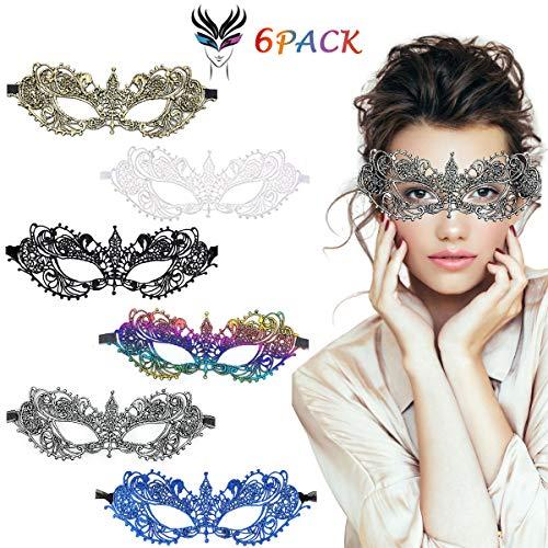 LADES Masquerade Maske - Halloween Masquerade Sexy Spitze Augenmaske Lace Damen Maskenspiel Für Halloween Weihnachten Karneval Maskentanzabend Party (Colorful Wies) (Masquerade Haut Maske Halloween)