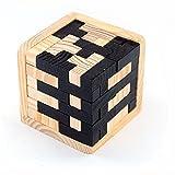 StillCool Puzzle 3D Cube Cervello di puzzle di Legno Rompicapo, Gioco di Puzzle 54 T-shaped Tetris Blocks, Jigsaw intellettivo logico geometrico, Giocattolo di Educazione per i bambini e gli adulti