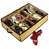 #8: 12 Pair Tote Shoes Storage Organizer Holder Shoe Bag Box Under Bed Assorted Color
