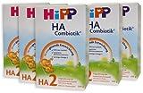 Hipp HA2 Combiotik Folgenahrung - ab dem 6. Monat, 5er Pack (5 x 500g)