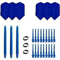 British Dardos–Combo Set–Plástico plumas azul Slim Medio 47mm ta1572Incluye Checkout de tabla de British Dardos
