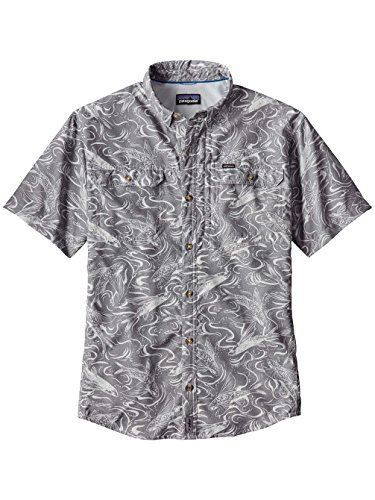 patagonia-chemise-casual-homme-gris-m