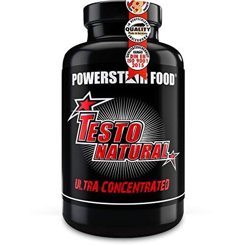 TESTO NATURAL | Testosteron Booster hochdosiert mit D-Asparaginsäure, Chrysin, Fenugreek etc. | Rohstoffe in geprüfter Arzneibuchqualität | 120 Tabletten | IFS-zertifizierte deutsche Herstellung