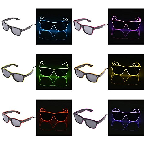 Sue Supply Shutter EL Draht Neon Rave Gläser Blinkende Licht LED Sonnenbrille bis Kostüme für Dancing Party Bar Meeting Glow Rave Kostüm Party Atmosphäre activing DJ Bright Gläser Requisiten grün