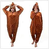 Adulto Unisexo poop emoji Poo Emojee onesie Fiesta Disfraz de Kigurumi Con Capucha PIJAMA Sudadera Ropa Para Dormir regalo de Navidad (M(height 160cm-170cm))