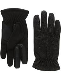 isotoner Men's Smartouch Tweed and Fleece Gloves