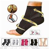 Kompression Vita-Wear Kupfer infundiert magnetische Fußstütze Socken Original-Qualität, Recovery Fuß Ärmel, Fußknöchel Plantar Fasciitis Support Socken (5 Paar) L/XL 3 Skin+2 Black