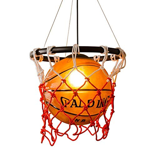 Basketball Pendant Light Creative Loft Retro Kronleuchter Eisen Seil Pendant Light Industrial Deckenlampe Für Restaurant Bar Sportthemen Park Gymnasium Art Deco Lampe