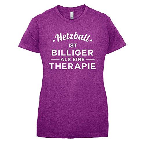 Netzball ist billiger als eine Therapie - Damen T-Shirt - 14 Farben Beere