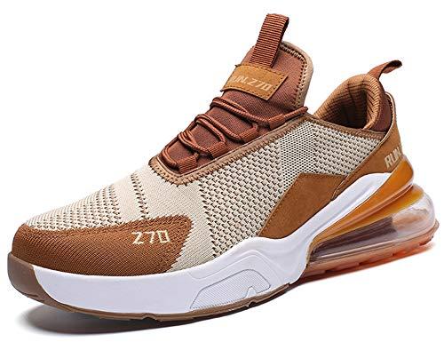 GNEDIAE Uomo Run 270 a Collo Basso Scarpe da Ginnastica Corsa Sportive Running Sneakers Casual all'Aperto Marrone 42 EU