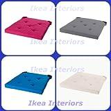 Ikea Justina Stuhlkissen,erhältlich in 4Farben, pink, blau, grau und Natur grau
