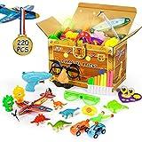 Joyjoz 220PCS Regalini Festa Bambini, Pignatta Compleanno Bambini, Bomboniere per Feste Forniture Ragazza Ragazzo Regalo di Compleanno Borse Premio Scuola di Carnevale, Pinata, Articoli per Feste