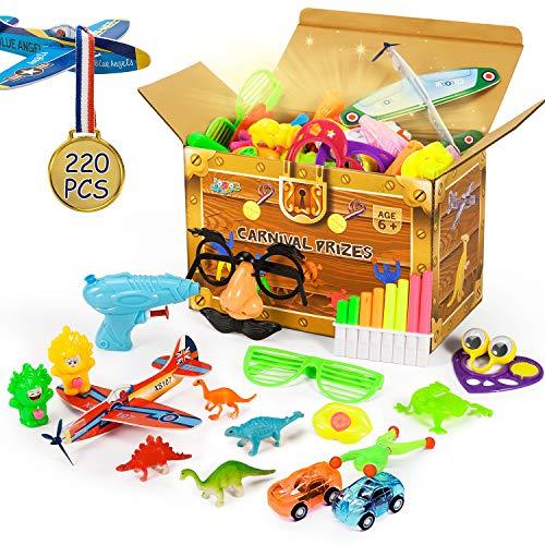 Joyjoz Kindergeburtstag Gastgeschenke, 220PCS Mitgebsel Kindergeburtstag Spiele Kinder Jungen Mädchen, Klassenzimmer Belohnungen