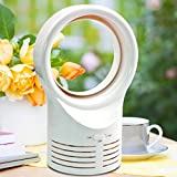 sunnymi Tischventilatoren Luftgebläse Air Fan Desktop Blattlos Kühlender blattloser Tabellen-Art-beweglicher Fluss-kühler Mechanischer Ventilator-rauscharmer Benchtop (Weiß)