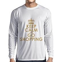 N4579L Camiseta de manga larga Keep Calm and Go Shopping!