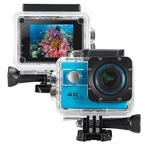 icefox ® cámara deportiva 4k,Cámara de Casco Sumergible 30M con Len